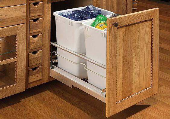 garbage can drawer dewils custom cabinetry planning. Black Bedroom Furniture Sets. Home Design Ideas