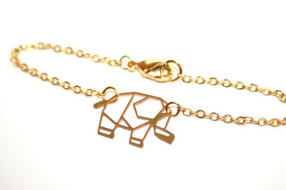 Zartes Elefant Geometrie Lasercut Origami Armband von ♥KARAMBOOLA♥      auf DaWanda.com