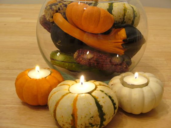 carve out mini gords candles