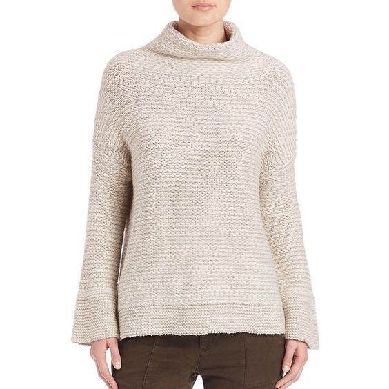 Joie Vespera  Jaquard Mockneck Sweater ($340) ❤ liked on Polyvore featuring tops, sweaters, apparel & accessories, light heather grey, mock neck top, mock neck sweater, joie tops, sweater pullover and joie