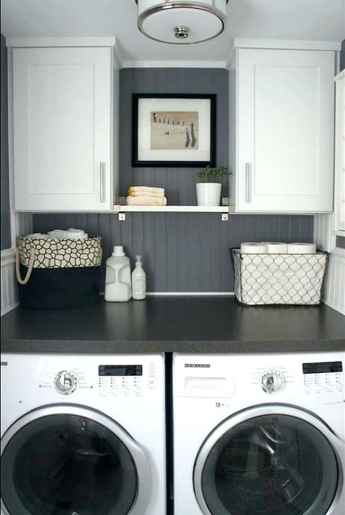 Bathroom Laundry Combo Half Bath And Laundry Makeover After 3 Small Bathroom Combined Laundry Ideas Laundry Room Remodel Laundry In Bathroom Laundry Room