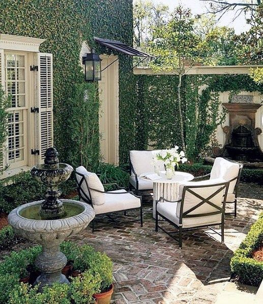 Top 50 Best Brick Patio Ideas Home Backyard Designs Small Courtyard Gardens Courtyard Gardens Design Small Brick Patio
