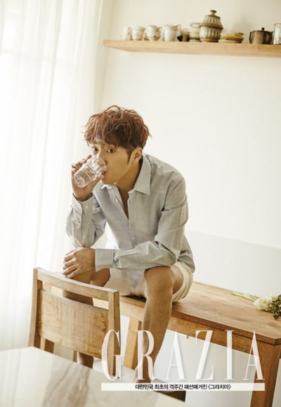 Lee Sang Yeob - Grazia Magazine April Issue '15