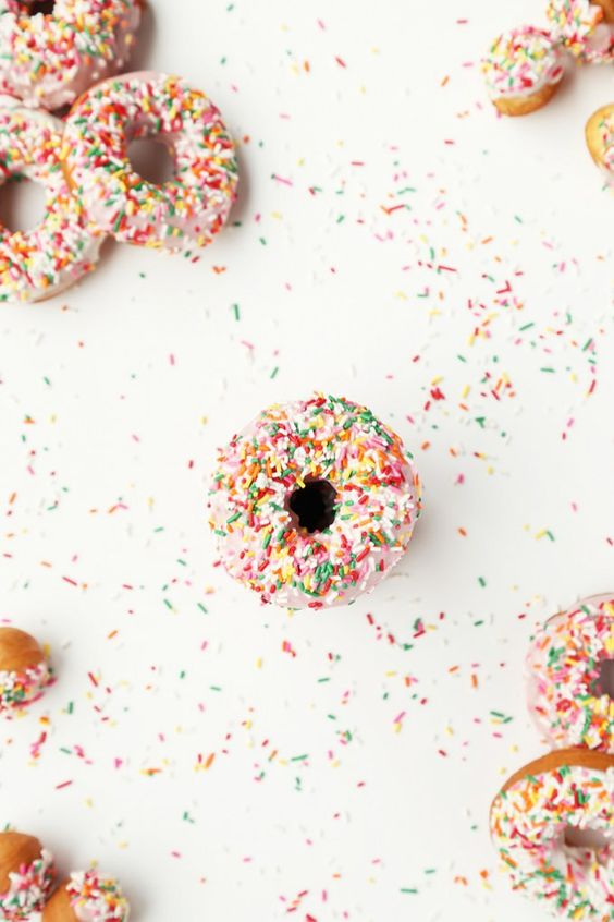 Sprinkled Cake Doughnuts - The Candid Appetite