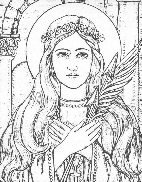 Sunday with the saints wonder women st rose st for St rose of lima coloring page