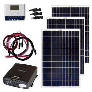 Grape Solar 200 Watt Off Grid Solar Panel Kit Gs 200 Kit The Home Depot Solar Panel Kits Off Grid Solar Panels Off Grid Solar