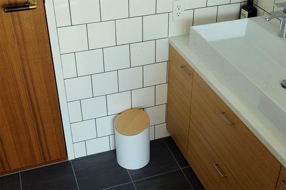 洗面 ゴミ箱 シンプル 蓋つき インテリア コーディネート例