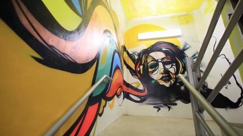 A virtual tour of the Evernia Parking Garage murals