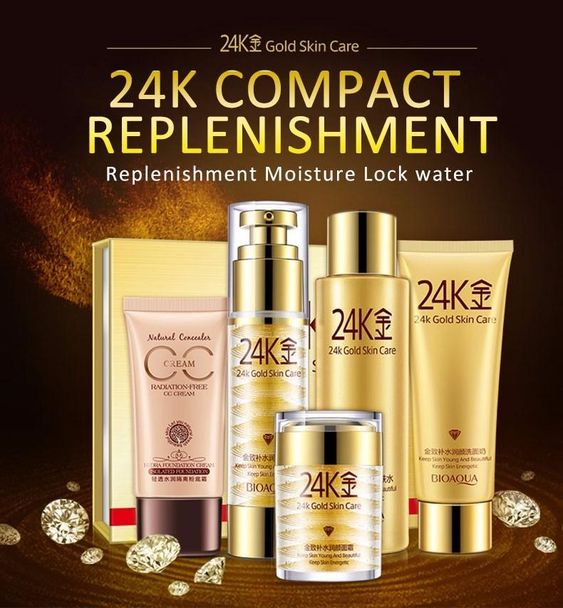 Beautiful You 24k Golden Skin Care Set Skin Care Facial Skin Care Cosmetic Sets