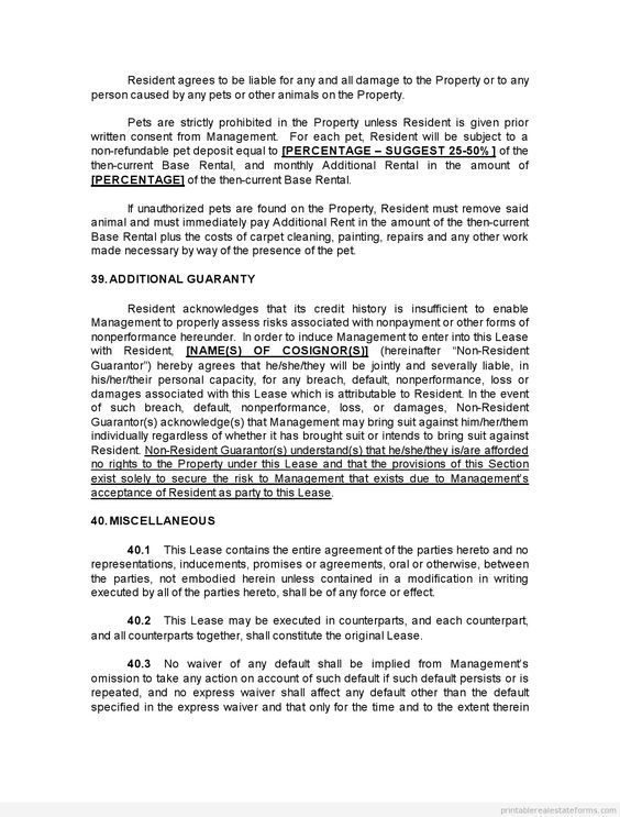 Sample Printable complex beneficiary agreement Form Printable - lease rental agreement