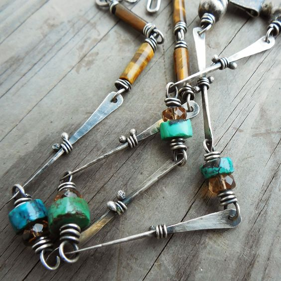 DIY Tutorial - Art Jewelry Elements: Fun With Chain (and No Soldering!)