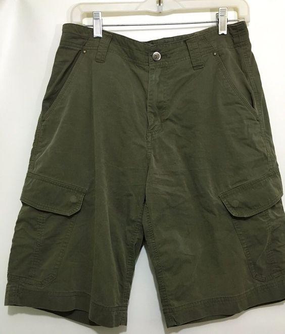 Details about Marmot Mens Size 30 Green Khaki Cotton Blend Cargo ...