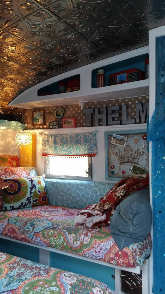 Vintage Trailers Trailer Interior And Ceilings On Pinterest