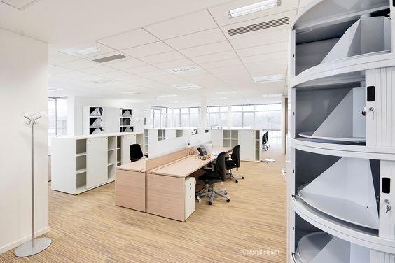 Open space dans les bureaux de Cardinal Health