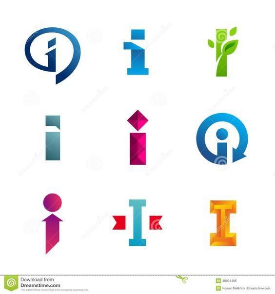 Grupo De Letra Eu ícones Do Logotipo Projeto Elementos Do Molde Ilustração do Vetor - Imagem: 48904495