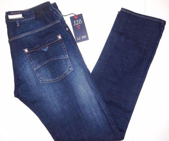 Armani Jeans slim fit men's jeans style J28 size 40x34 NEW on SALE  #ArmaniJeans #Slimfit