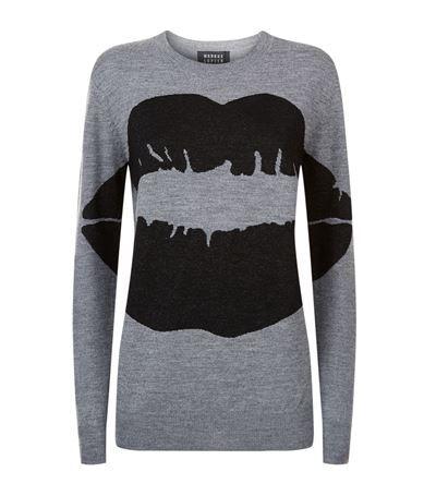 MARKUS LUPFER Lurex Smacker Lip Sweater. #markuslupfer #cloth #