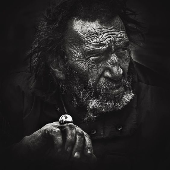 Homeless - this man's face tells a story.
