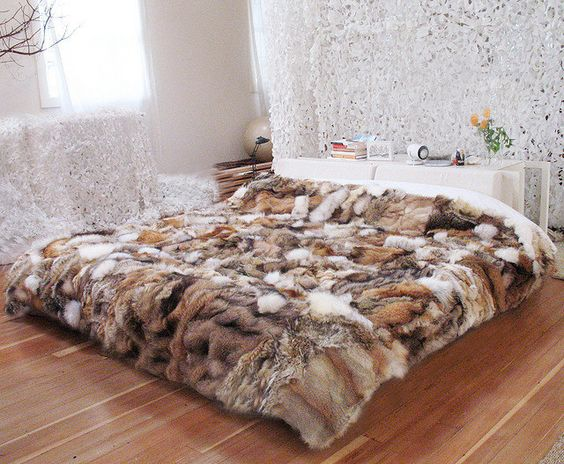 Throws Made From Fur Coats 1 REUSE RE PURPOSE