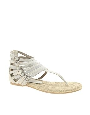 Bronx Thong Leather Sandal With Multi Buckles
