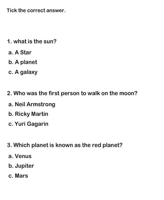 """Science Quiz 2 ??"""" Printable 2nd Grade Science Worksheet"""