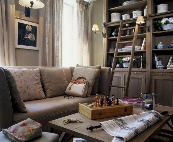 Photo Deco : Salon Blanc Hôtel ambiance maison de famille beige et ...