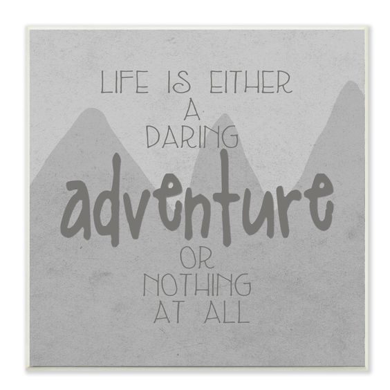 Life Is An Adventure' Gray Mountains Wall Plaque
