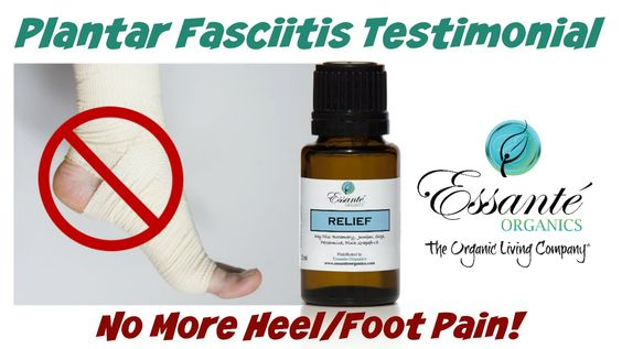 Lies, lies, lies! If the pain is gone from using essential oils, the diagnosis was wrong. Plantar fasciitis is caused by overpronation, and essential oils do not correct this...EVER!