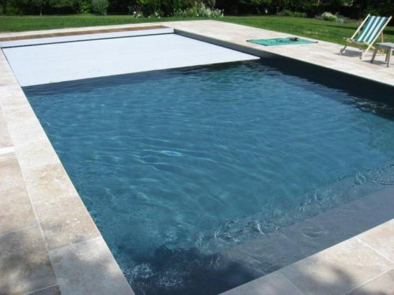 Couleur d 39 eau liner gris anthracite r ve de piscine - Photo piscine liner gris ...