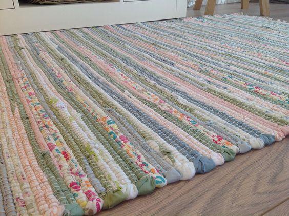 Recycled Cotton Rag Rug Pastel Multi Colours 90cm X 150cm Second Nature Exclusive Garden Sheds Pinterest