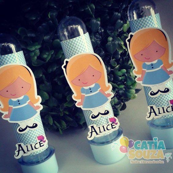Tubete decorado Alice