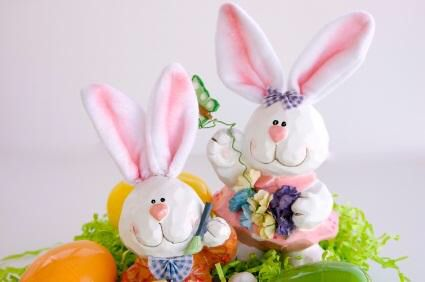 Cute Easter Bunnies decorations