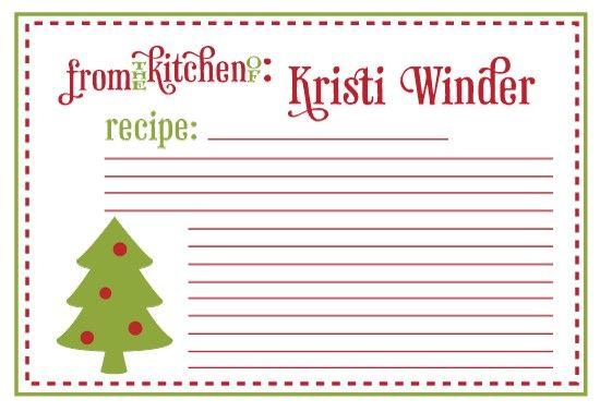 Printable Christmas Recipe Cards Recipe Cards Template Holiday Recipe Card Template Christmas Recipe Cards