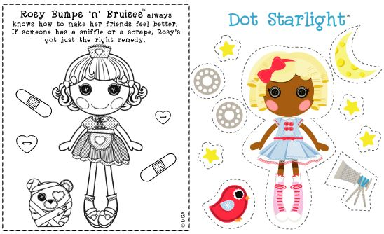 Coloring Pages Lalaloopsy Rosie