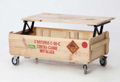 Mesa-baúl vintage militar | Artilujos