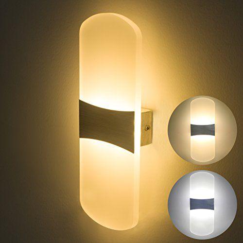 Blanc Appliques Murales LED D/écoratif Applique Mural Int/érieur 9W Cr/éatif Eclipse 2 en 1 Appliques Murales Fer Applique Lumiaire,Lumi/ère Blanche Chaude