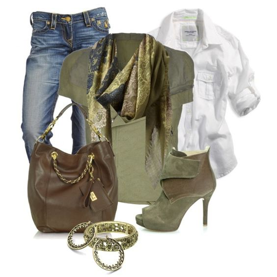 polyvore BROWN AND GREEN OUTFITS   Green and Brown :)   Dress Me!!