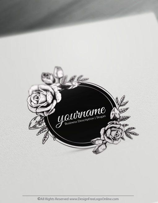 Design Free Rose Logo Online Vintage Rose Logo Design Maker Floral Logo Design Logo Design Free Templates Vintage Logo Maker