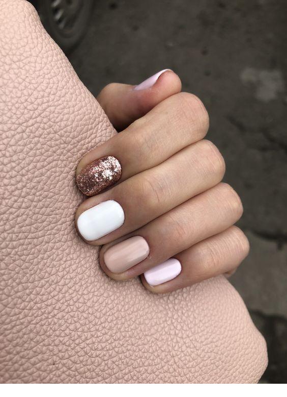 Very Cute Nails Miladies Net Champagne Nails White Glitter Nails Nails
