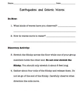 Earthquakes and Seismic Wave Intro Activity with Slinkys Free ...