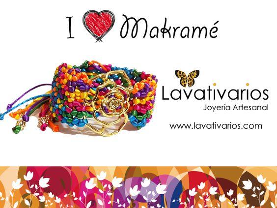 """Colección """"I Love Makramé"""" by Lavativarios Disponible en nuestra Tienda Virtual www.lavativarios.com/shop"""
