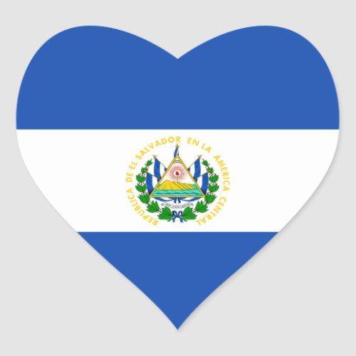 El Salvador Flag Heart Sticker Zazzle Com In 2021 El Salvador Flag Heart Stickers Flag Crafts