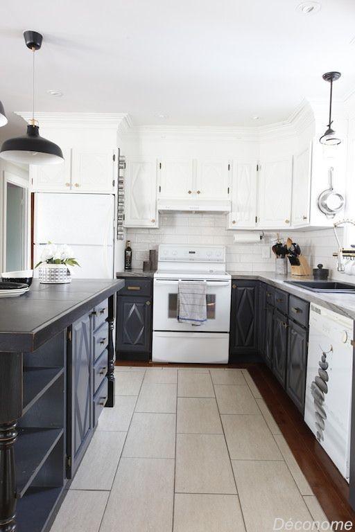 Moderniser une vieille cuisine en bois avec de la peinture ...