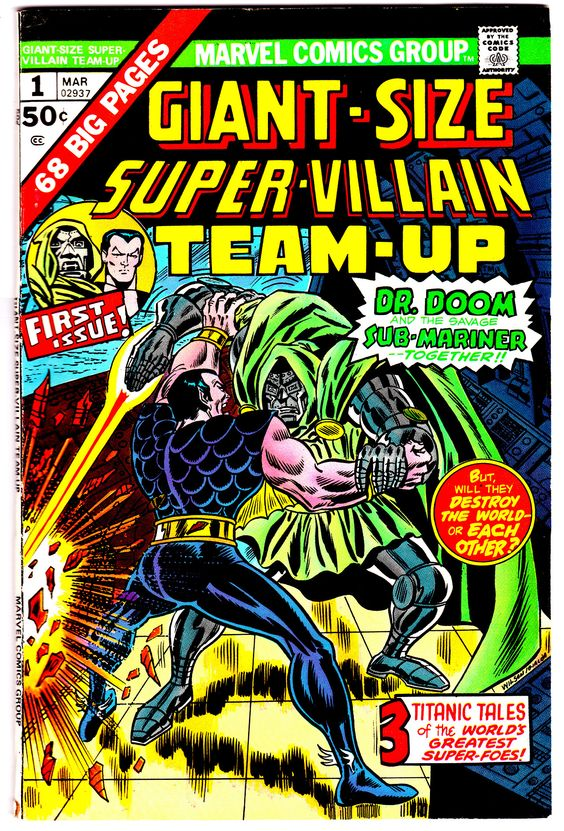 Giant-Size Super-Villain Team-Up #1 (March 1974) by Ron Wilson #DoctorDoom #Namor