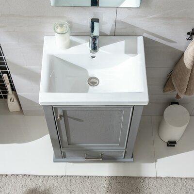 Belton 20 Single Bathroom Vanity Set Base Finish Grain Gray In 2021 Single Bathroom Vanity Small Bathroom Sinks Small Bathroom Vanities