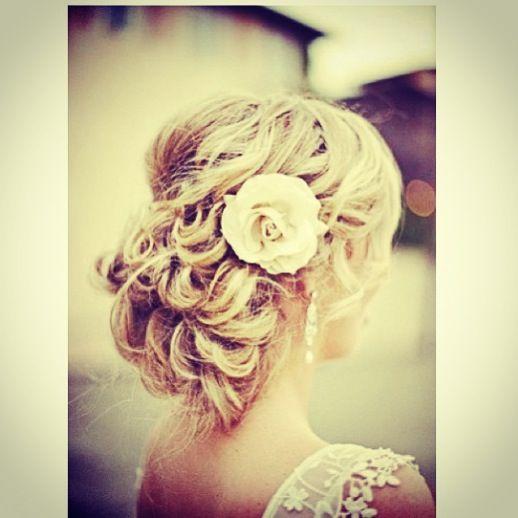 Wondrous Updo I Love And The Flowers On Pinterest Short Hairstyles Gunalazisus