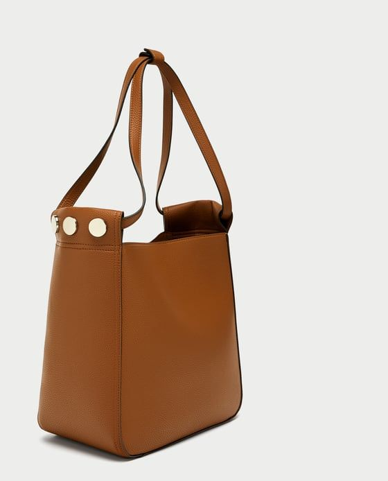 Bucket Bag With Studded Detail From Zara
