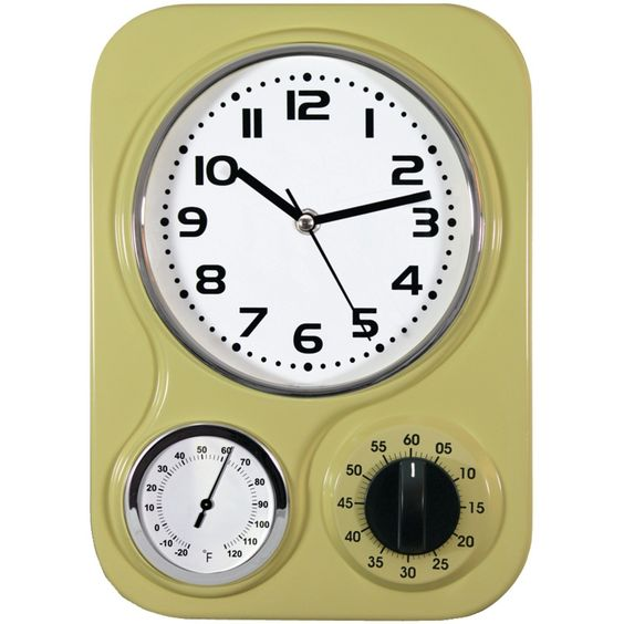Kitchen Clock With Temperature and Timer