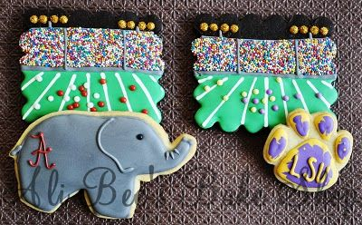 LSU vs BAMA Cookies