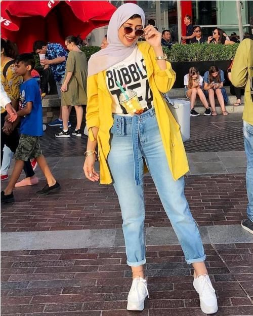 Colorful Hijab Outfits For Weekends Just Trendy Girls In 2021 Hijabi Outfits Casual Hijab Fashion Summer Hijab Outfit